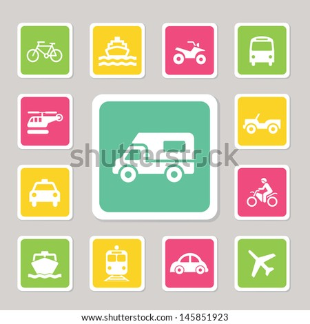 Traffic icons set for use - stock vector