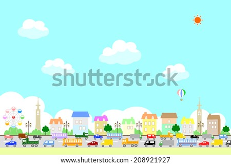 traffic jam - stock vector