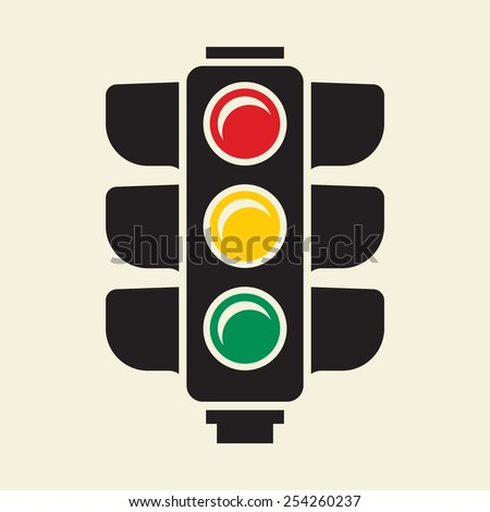 Traffic light sign - stock vector
