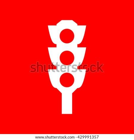 Traffic light sign - stock vector