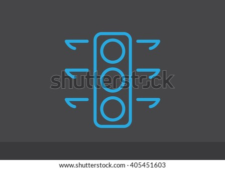 Traffic light signal - Vector icon - stock vector