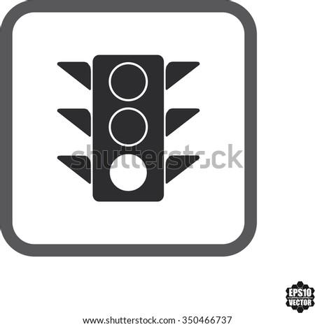 Traffic Light Symbol And Icons Set On White Background . Vector illustration. - stock vector