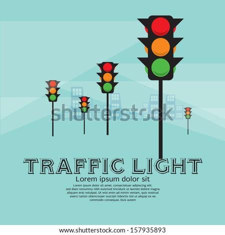 Traffic Light Vector Illustration.EPS10 - stock vector