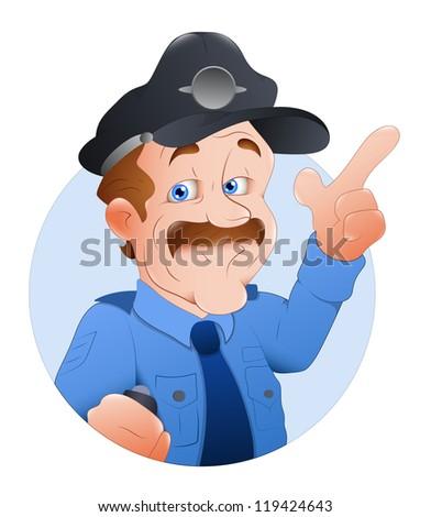 Traffic Police Officer Vector Illustration - stock vector