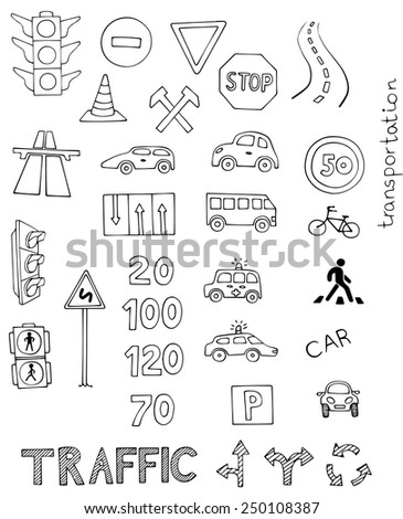 traffic rules vector set on white background - stock vector