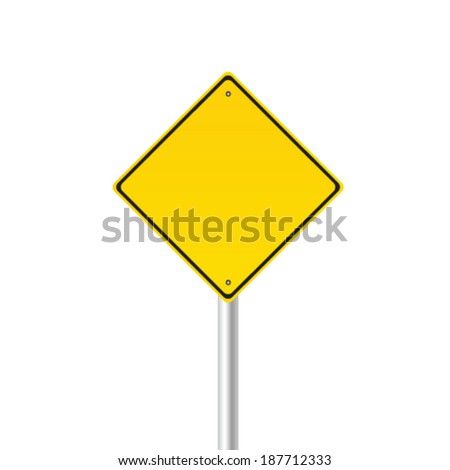 traffic sign color vector illustration - stock vector