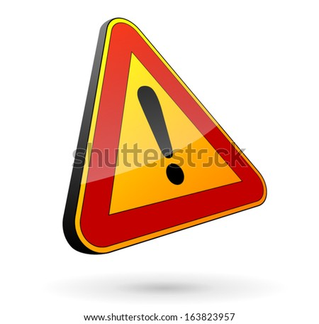 Traffic sign danger - stock vector