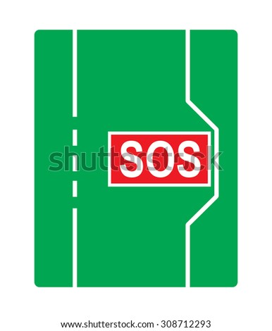 Traffic sign: Emergency stopping bay. - stock vector