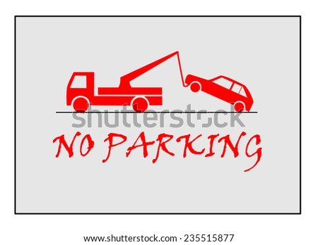 Traffic sign - no parking.  - stock vector