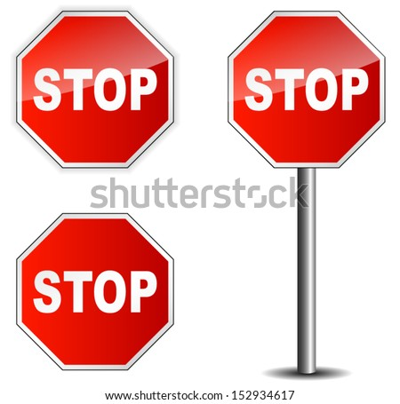 Traffic sign stop - stock vector