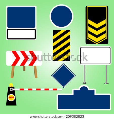 traffic sign vector - stock vector