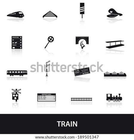 train and railway icons eps10 - stock vector