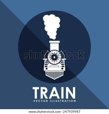 train icon design, vector illustration eps10 graphic - stock vector