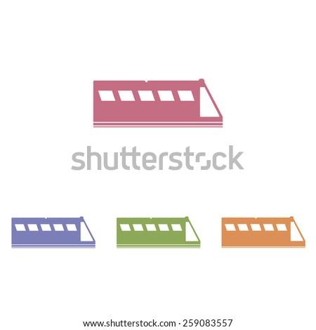 Train icons - stock vector