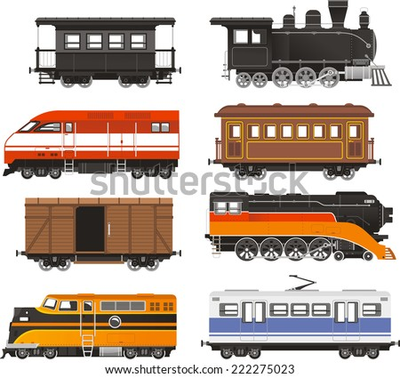 Train Locomotive Transportation Railway Transport vector illustration. - stock vector