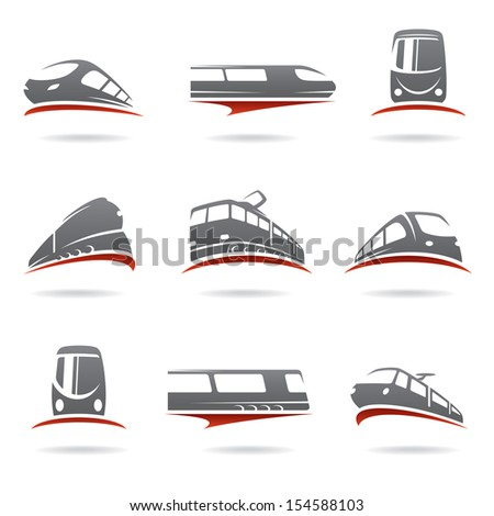 Train set. Vector  - stock vector