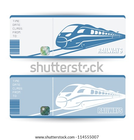 Train tickets - vector illustration - stock vector