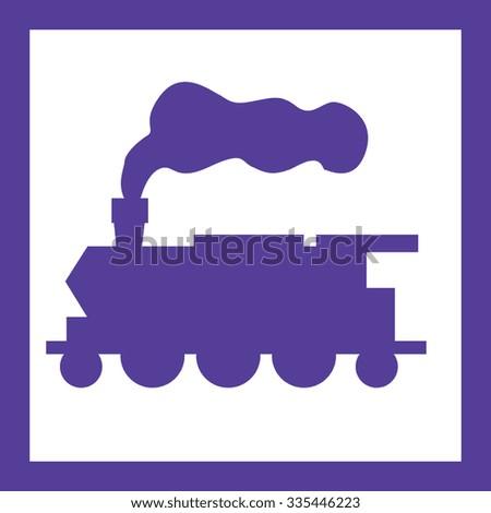 Train transport - stock vector