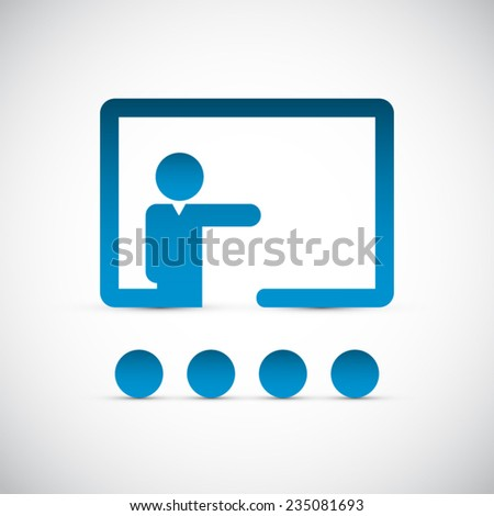 Training icon background - stock vector