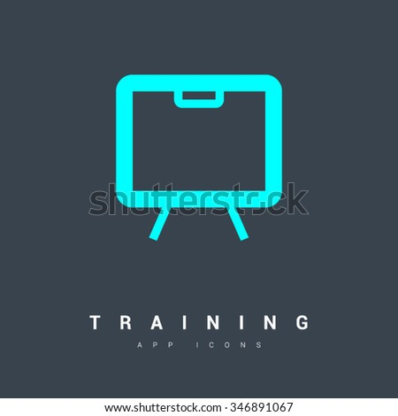 training isolated minimal single flat linear icon in color. Line vector icon for websites and mobile minimalistic flat design. Modern trend concept design style illustration symbol - stock vector