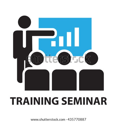 training seminar for business concept , icon and symbol - stock vector