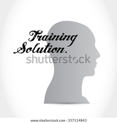 Training Solution thinking brain sign concept illustration design graphic icon - stock vector