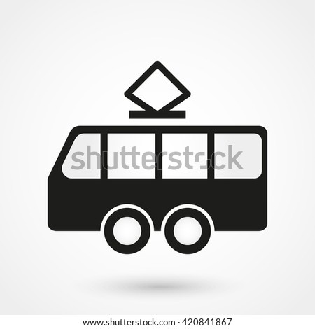 Tram Icon / Tram Icon Object / Tram Icon Picture / Tram Icon Drawing / Tram Icon Image / Tram Icon Graphic / Tram Icon Art / Tram Icon JPG / Tram Icon JPEG / Tram Icon EPS / Tram Icon AI / Tram Icon - stock vector