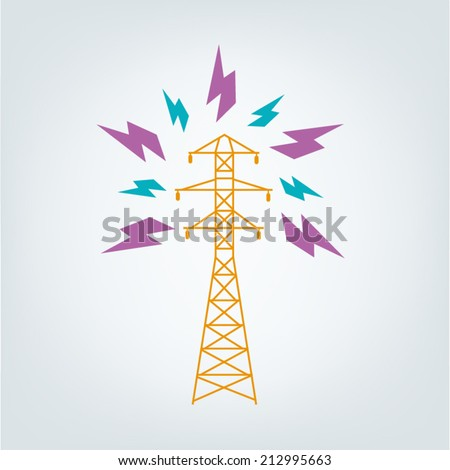 Transmission Tower Icon concept. Vector EPS10. - stock vector