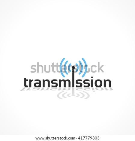 transmission vector icon, abstract background design - stock vector