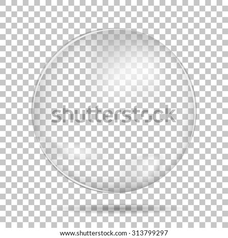 Transparent drop isolated with shadow - stock vector