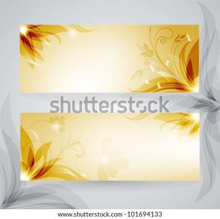 Transparent floral background - stock vector