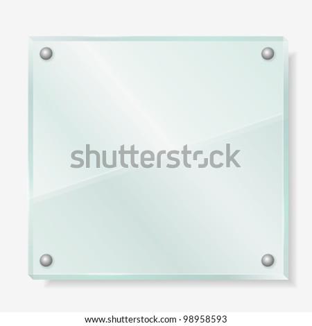 Transparent glass board, vector eps10 illustration - stock vector