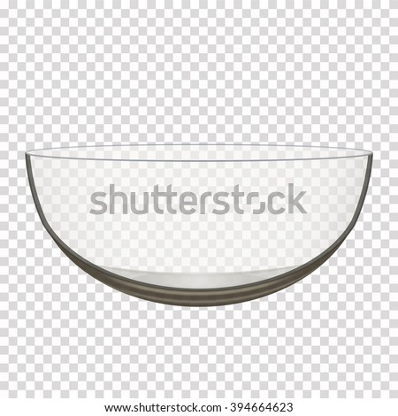 transparent glass bowl isolated realistic vector iilustration - stock vector