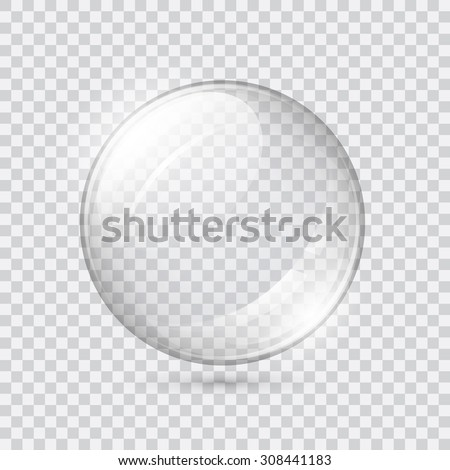 Transparent glass sphere  - stock vector