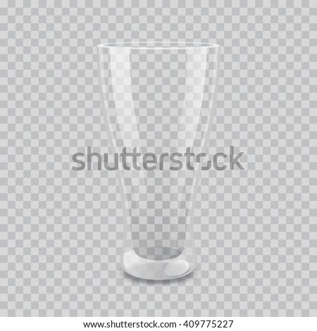 Transparent glass vector illustration. EPS 10. Layered and easy to editable file - stock vector