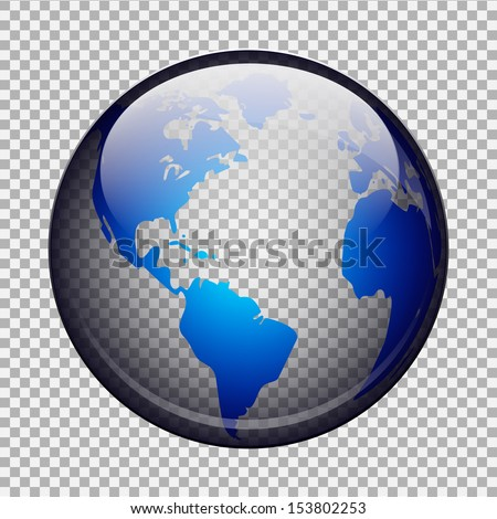 transparent globe - stock vector