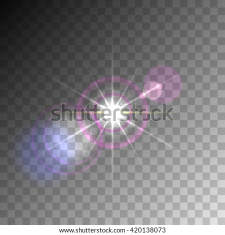 Transparent lens flare vector element. eps10 format. - stock vector