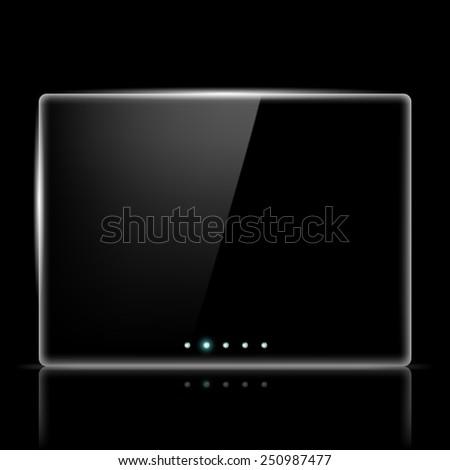 Transparent screen for slide show - stock vector