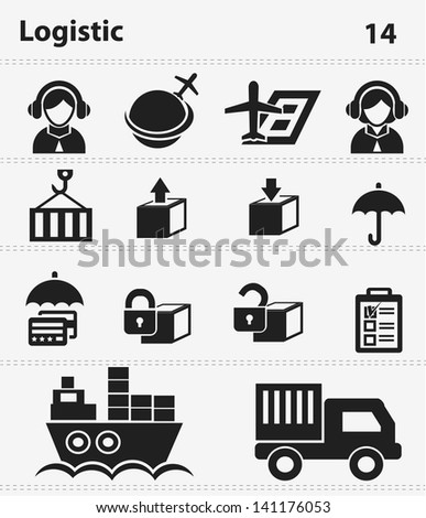 Transport and logistic icons,vector - stock vector