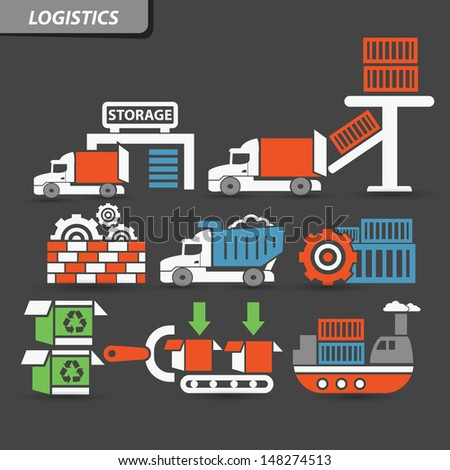 Transport and logistics symbol,vector - stock vector