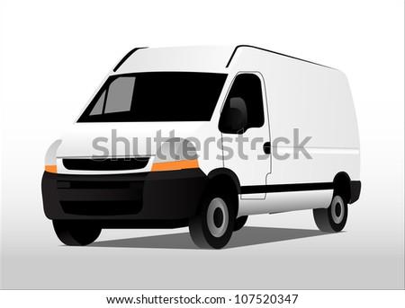 transport car (Vector Truck) - stock vector