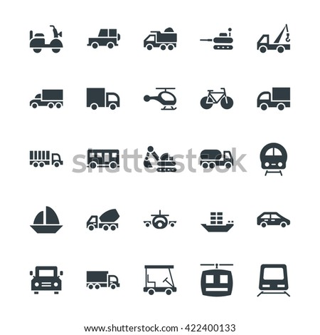 Transport Cool Vector Icons 2 - stock vector