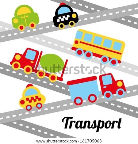 transport design over white background vector illustration - stock vector