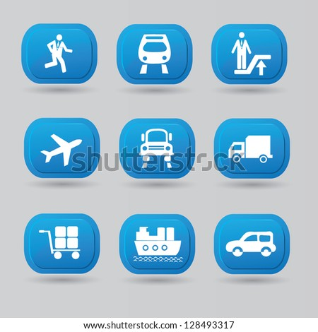 Transport icon set,vector - stock vector