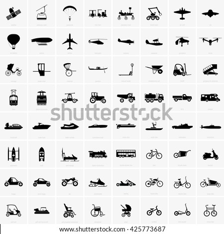 Transport icons - stock vector