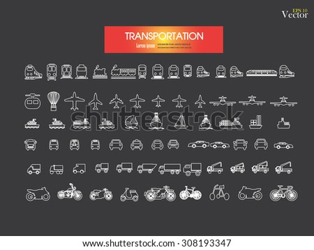 Transport icons.transportation .logistics.logistic icon.vector illustration.