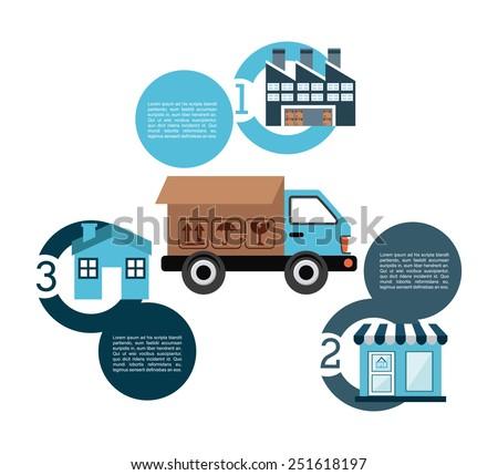 transport logistics design, vector illustration eps10 graphic  - stock vector