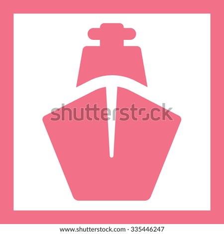 transport ship - stock vector
