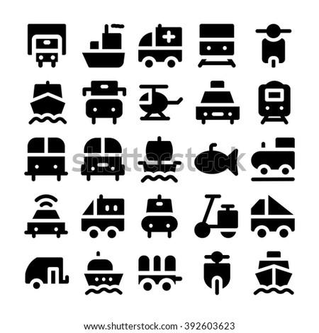 Transport vector icon 4 - stock vector