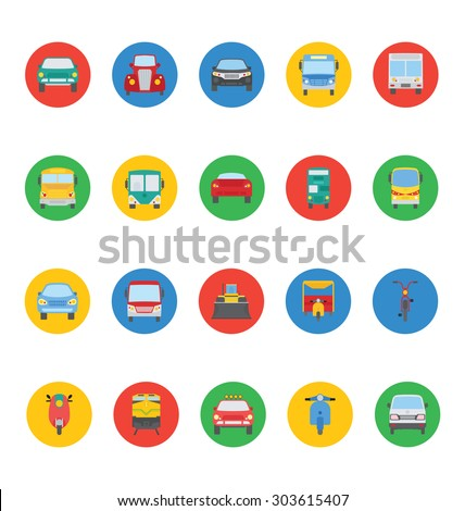 Transport Vector Icons 3 - stock vector